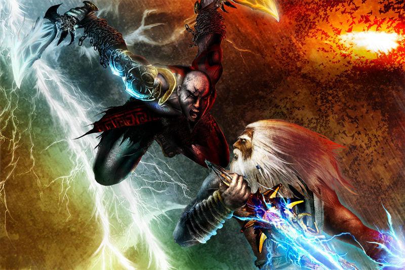 (God of War) Kratos VS Zeus