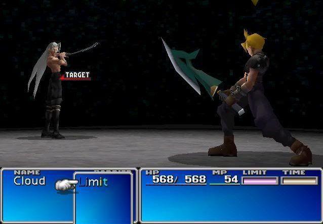 (Final Fantasy VII) Cloud VS Sephiroth