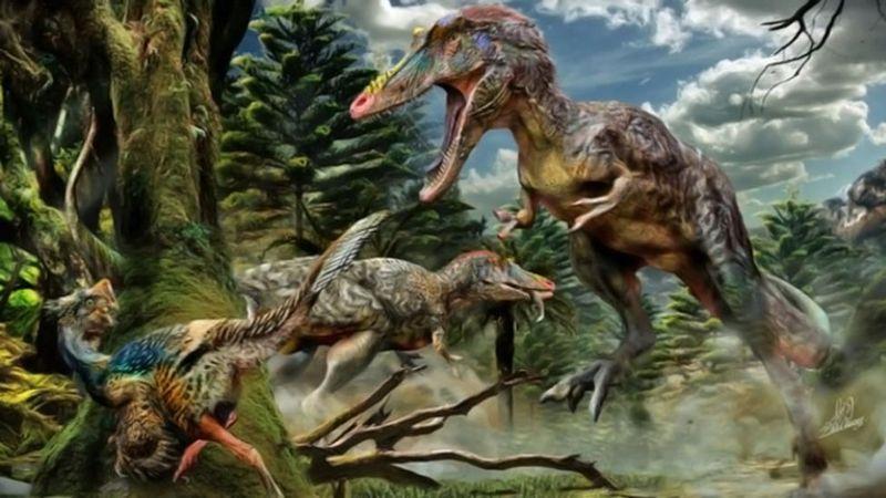 ¿Recuerdas al T-Rex del test anterior? Pues aquí el Baryonyx que se los podía cargar.