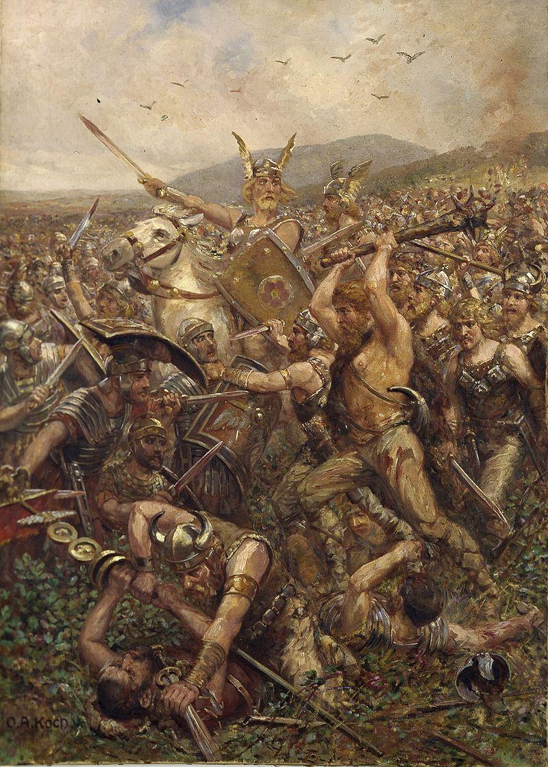 ¿En qué batalla Roma perdió tres legiones bajo el mando de Publio Quintilio Varo?
