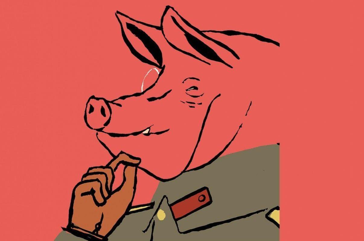 ¿Por quién es derrocado el cerdo Napoleón en Rebelión en la Granja?