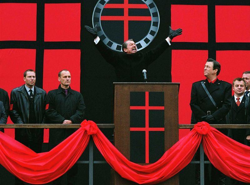 ¿Cómo se llama el partido de extrema derecha que gobierna Gran Bretaña en V de Vendetta?