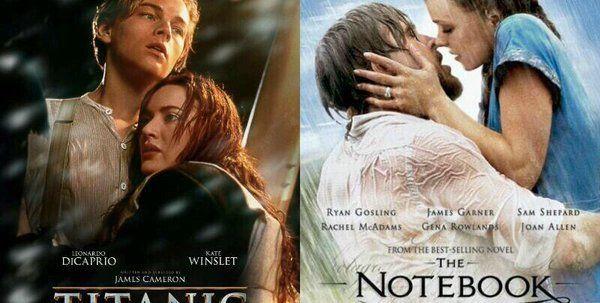 Ahora Romance para los más sensibles ¿Titanic o El diario de Noa?