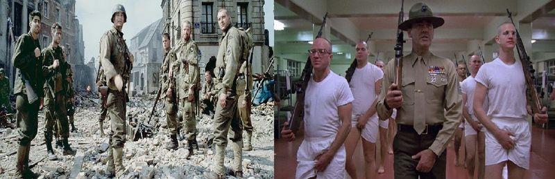 Pasamos al cine Bélico ¿Salvar al soldado Ryan o La chaqueta metálica?