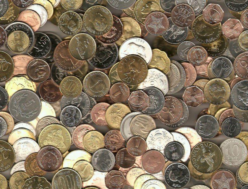 Moneda menos utilizada.