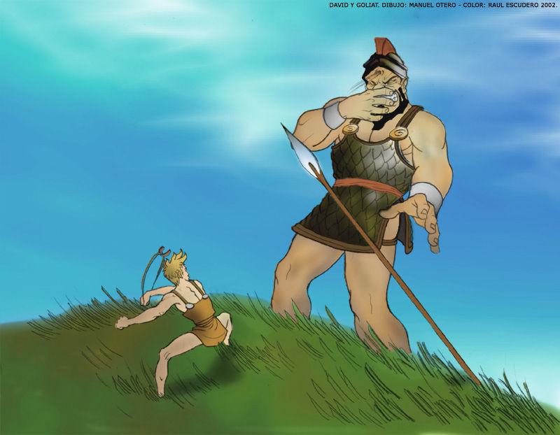 David mató a Goliat con una ........