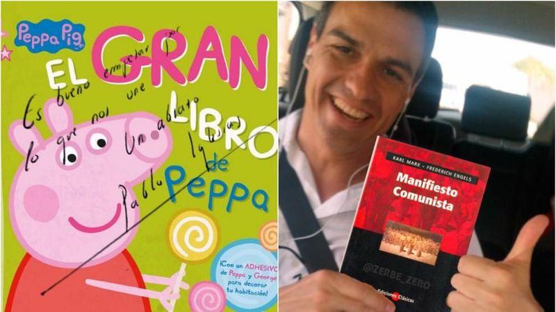 A Pedro le gusta ....... su nuevo libro regalado por Pablo.