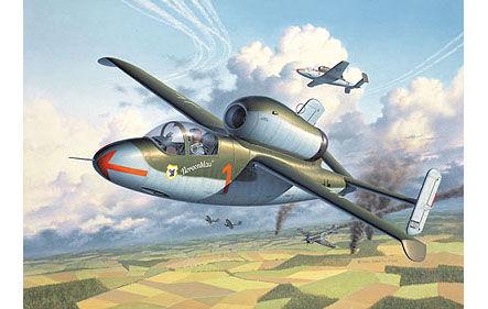 Y ya finalizando la guerra en Europa, aparecierón los primeros aviones a reacción, ¿cuál es éste?