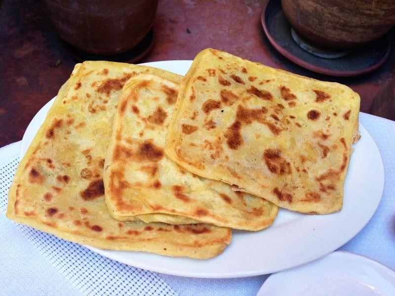 ¿Qué pan plano es originario de Marruecos?