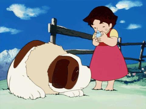 ¿Cuál era la típica comida del perro de Heidi?