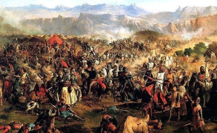 ¿En qué batalla se unieron las coronas de Castilla, Navarra y Aragón para combatir contra los musulmanes?