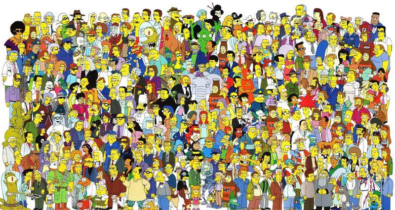 16807 - Identifica estos personajes secundarios conocidos y menos conocidos de los Simpson con su nombre correspondiente.