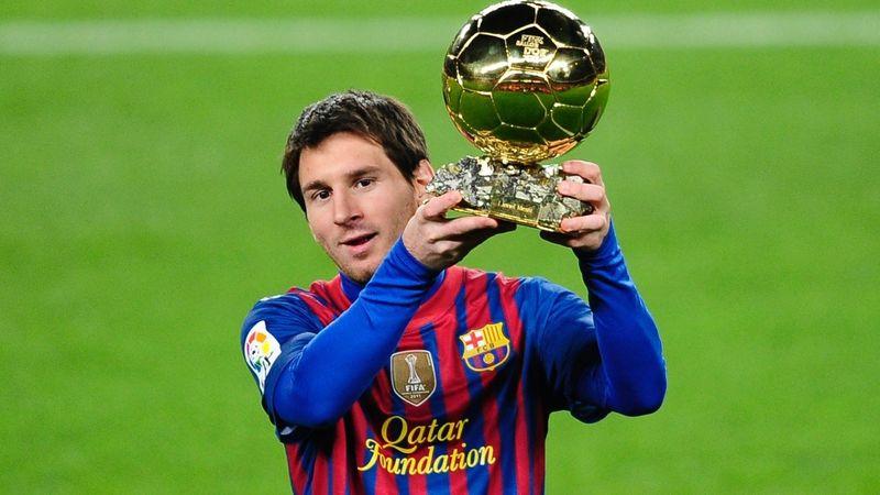 ¿En qué año ganó Messi su tercer balón de oro?