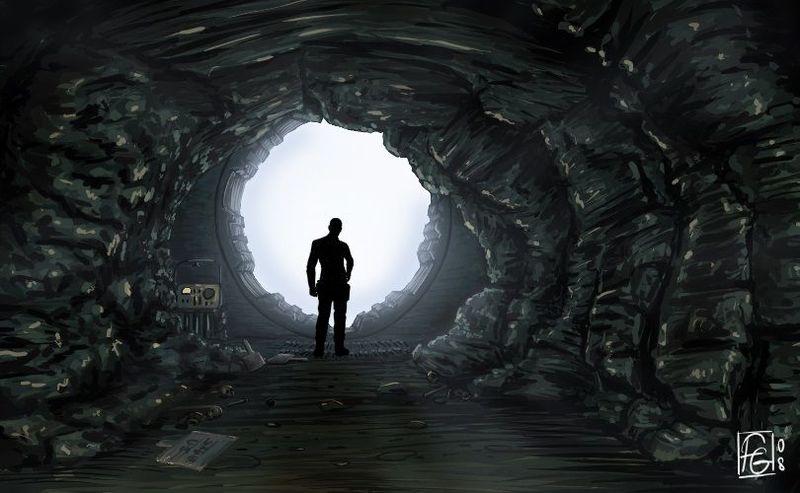 Al salir del Refugio nuestro personaje...