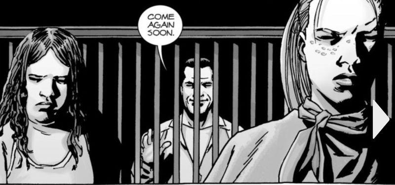 Y por último, más reciente... ¿En qué nº del cómic escapa Negan?