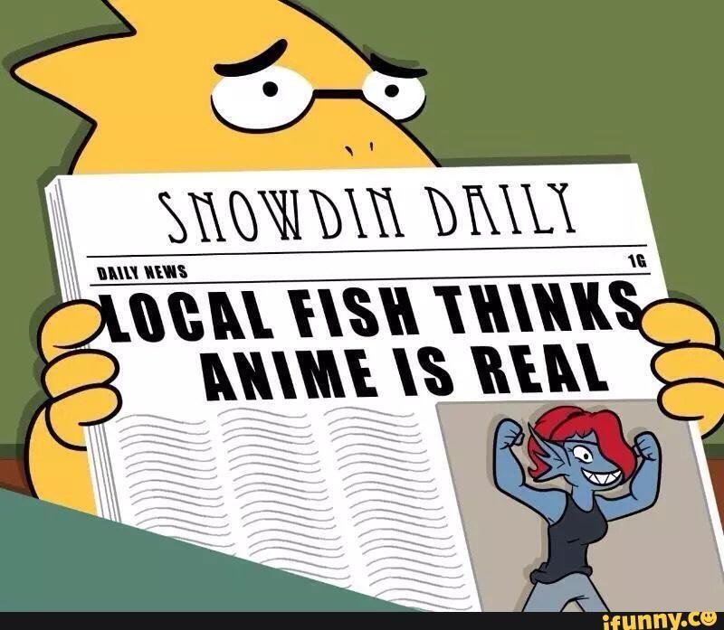 ¿Cómo se llama el anime que ve Alphys?