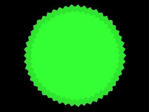 ¿Qué pasa si una célula grande toca un virus (o también llamado pincho verde)?