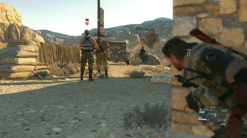 Mientras avanzas, escuchas a dos enemigos que habla sobre tu objetivo, pero se dirigen hacia una zona atestada de enemigos...
