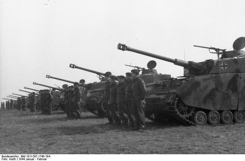 Panzers on a line...