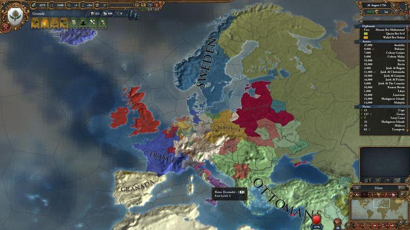 1448. Rey de Castilla. Debes acabar con el reino nazarí de Granada. ¿Cómo lo haces?