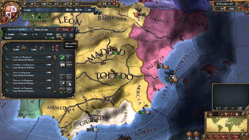Quieres unir Castilla con Aragón para formar España. ¿Cómo lo haces?