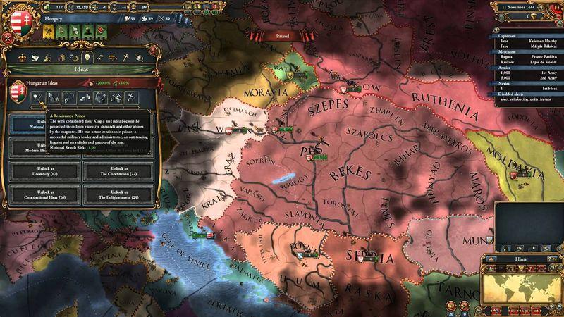 Austria solicita tu ayuda para entrar en guerra con Hungría ¿Qué haces?