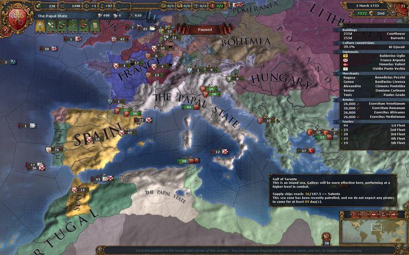 Tus consejeros te advierten de subir la influencia papal en tu reino...
