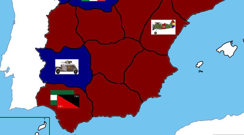 FIN DEL JUEGO. Las tropas de Franco se han rendido por tantas conquistas.