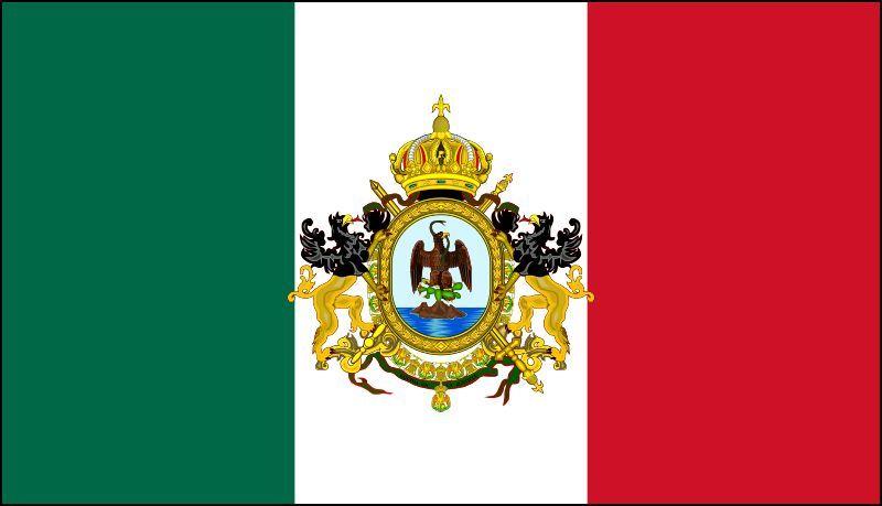 Viajamos a México, ¿En que año usó esta bandera?