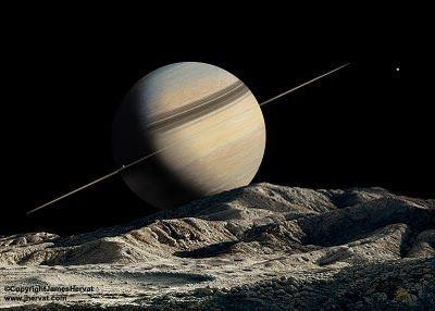 Más satélites. ¿Cuántos tiene Saturno, más o menos?