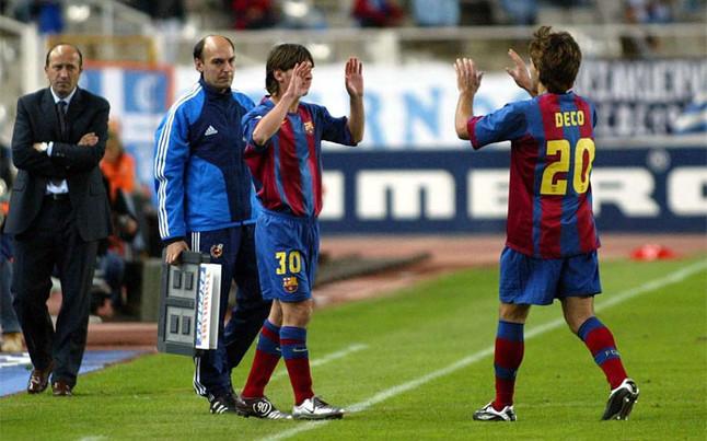 ¿Qué entrenador hizo debutar a Messi en el primer equipo del FC Barcelona?