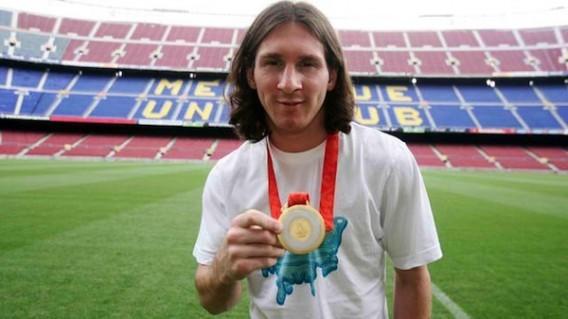 ¿En qué año ganó Messi la medalla de Oro en los JJ.OO.?