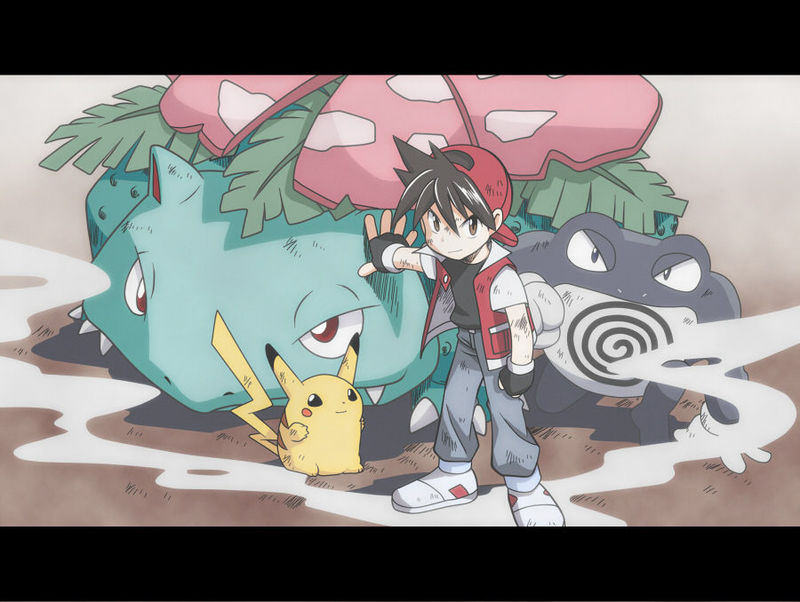 ¿Cuál de estos pokemon no ha sido capturado por Red?