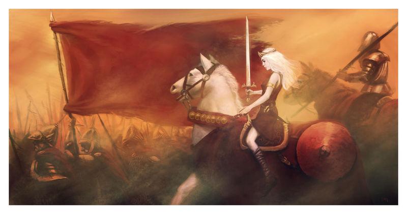 ¿Qué nombre tiene la yegua que monta Daenerys?