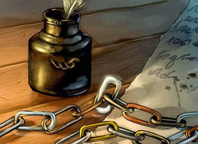 ¿Qué significa el eslabón de bronce en la cadena de un maestre?