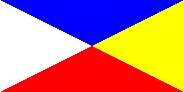¿Qué tres pueblos siguentes usaba esta bandera?