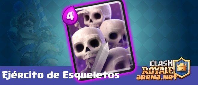 ¿Cuántos esqueletos son invocados al utilizar el ejército de esqueletos?