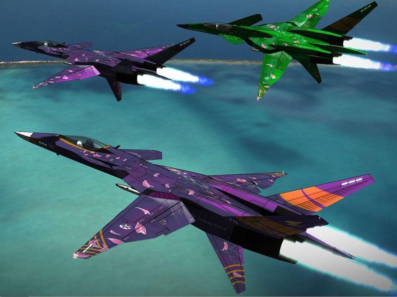 En todos los Ace Combat hay siempre algún escuadrón que nos hace la vida imposible.¿Cuáles son los que aparecen en el 5?