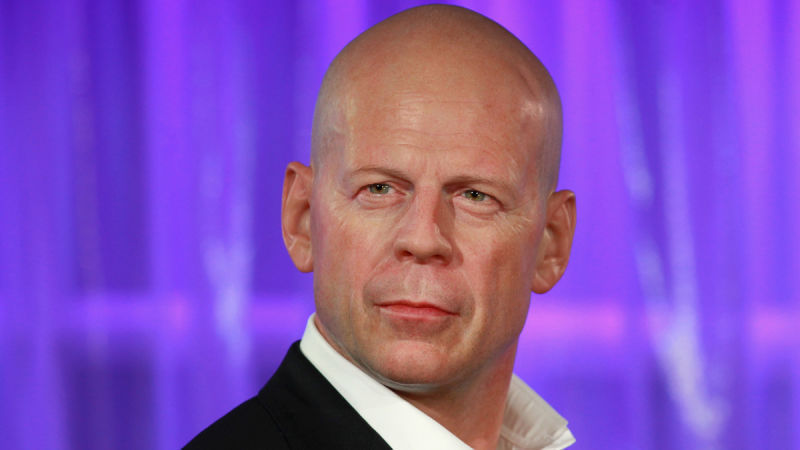 ¿Es Bruce Willis o su figura de cera?