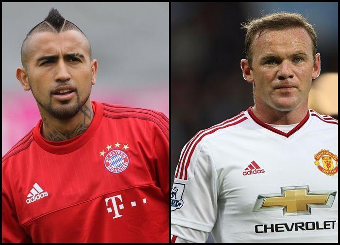 ¿Wayne Rooney o Arturo Vidal?