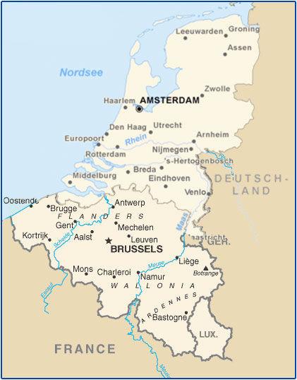 Seguimos con los Países Bajos, Luxemburgo y Bélgica.