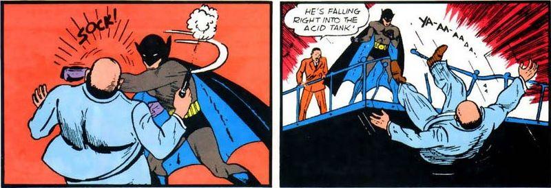 La primera aparición de Batman fue en el año...
