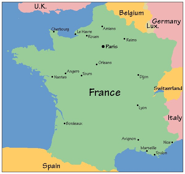 Seguimos con Francia. ¿Qué territorios le pides?