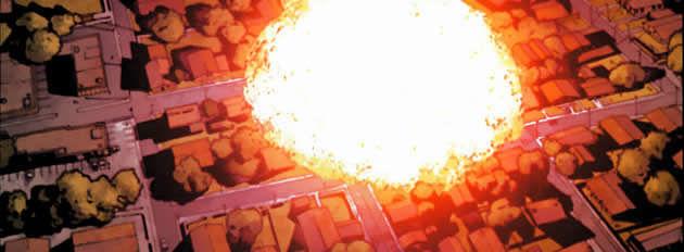 ¿Dónde se produce la explosión que provoca finalmente la aprobación del acta de registro de superhumanos?