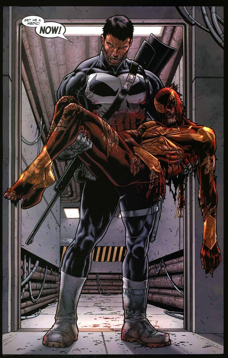 ¿Quién hiere de gravedad a Spider-man cuando trata de huir del bando Pro-registro?
