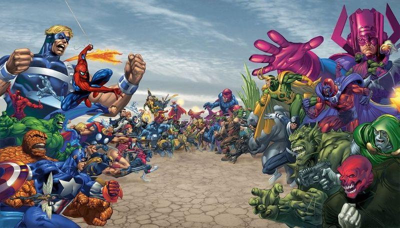 ¿Contra qué grupo de superhéroes se estaba enfrentando dicho villano cuando provocó la explosión?