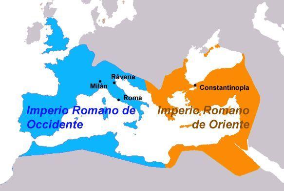El imperio se dividió en...