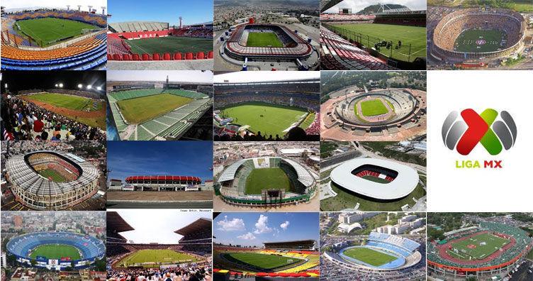 18625 - Estadios de la Liga Mexicana y sus equipos