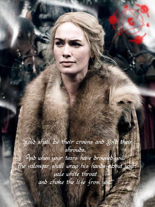 Según una profecía, el valonqar (hermano/a pequeño/a en alto valirio) matará a Cersei. ¿Quién crees que es?