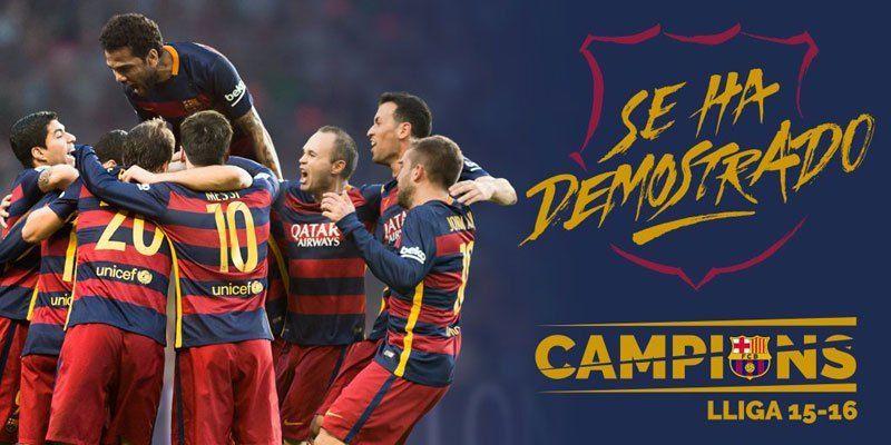 ¿Con cuántos puntos se ha proclamado campeón el FC Barcelona?